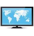 world map on flat screen vector image vector image