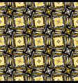 yellow and black abstract doodle grid shapes vector image vector image