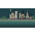Flat design night urban landscape vector image