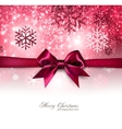 Elegant Christmas background with red bow vector image