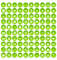100 case icons set green circle vector image vector image