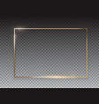 abstract golden glossy frame background vector image