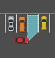 autonomous car parking top view vector image