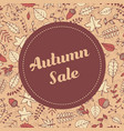 autumn sale banner template with leaves vector image vector image