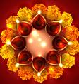 Background of diwali diya vector image vector image