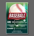 baseball poster banner advertising base vector image