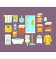 Bathroom Interior Elements Set vector image