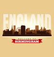 birmingham united kingdom city skyline silhouette vector image vector image