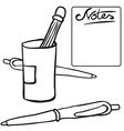 black and white pencils vector image vector image