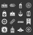 black friday icons set grey vector image vector image