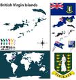 British Virgin Islands map world vector image vector image