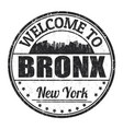 bronx sign or stamp vector image