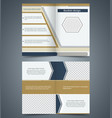 brown bifold brochure template design vector image vector image
