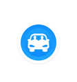 carpool icon people sharing a car vector image vector image