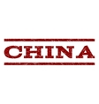China Watermark Stamp vector image vector image