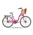 city bike in flat style vector image vector image