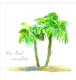 coconut palm trees on small island vector image vector image