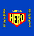 comics super hero style font design vector image vector image