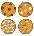 cookie set vector image vector image