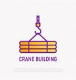crane thin line icon modern vector image