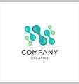 creative dot technology logo vector image vector image
