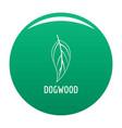 dogwood leaf icon green vector image