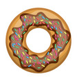 donut with chocolate and colours sparks colorful vector image vector image