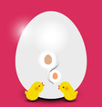 Easter chicks with easter egg vector image