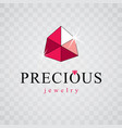 faceted gemstone with sparkles polygonal vector image vector image