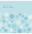 falling snow horizontal frame seamless pattern vector image vector image