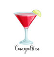 glass cosmopolitan cocktail vector image