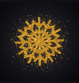 gold glitter snowflake vector image