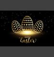 golden pattern eggs for happy easter festival vector image vector image