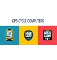 gps computers and apps for bike and cycling vector image vector image