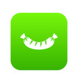 grilled sausage icon digital green vector image