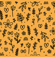 hand drawn floral seamless pattern cute vector image vector image