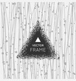 hand drawn triangle vector image vector image