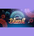 happy diwali traditional indian lights hindu vector image
