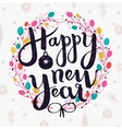 Happy New Year hand made lettering vector image