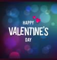 Happy Valentine s Day Bokeh Blue Background