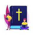 holy bible abstract concept vector image vector image