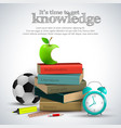 knowledge stuff composition vector image vector image