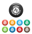 laundry premium quality icons set color vector image vector image