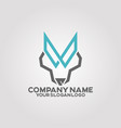logo line wolf vector image