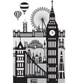 london city skyline 10 vector image vector image