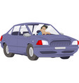 man driving car stock vector image vector image
