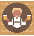 Man with a Mug of Beer vector image