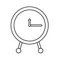 monochrome silhouette of clock icon vector image vector image