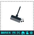 mop bucket icon flat vector image vector image