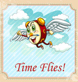 Old saying time flies vector image